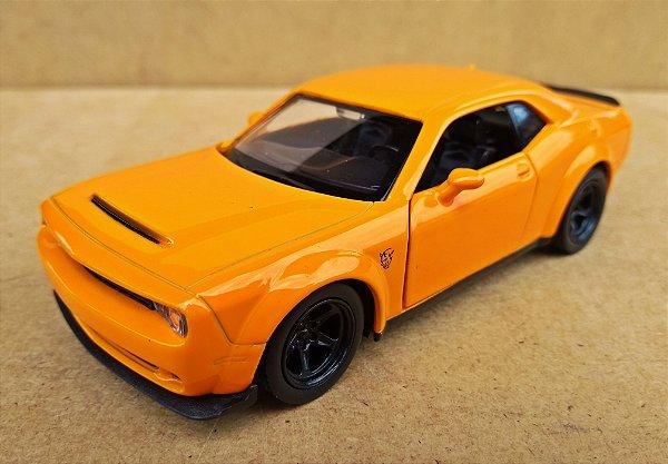 Dodge Challenger SRT Demon Laranja - Escala 1/32 12 CM