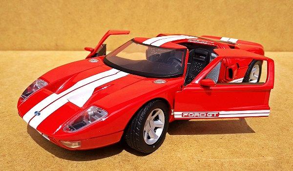 Ford GT40 Vermelho - Escala 1/24 - 19 CM