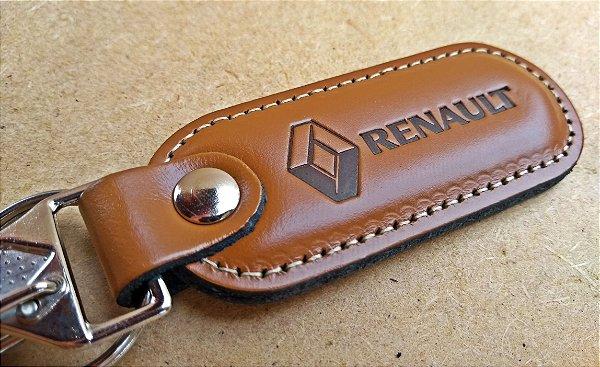 Chaveiro em Couro Marrom Renault