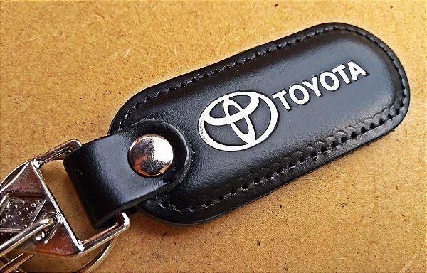 Chaveiro em Couro Preto Toyota