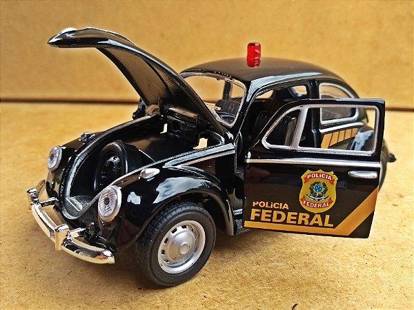 Volkswagen Fusca Polícia Federal - Escala 1/32 - 12 CM