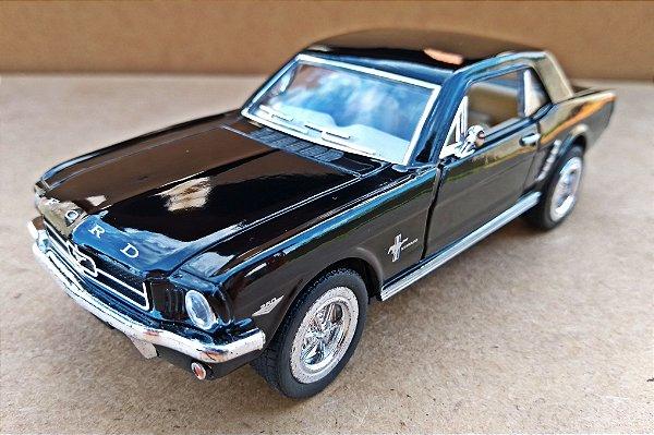 Ford Mustang 1964 Preto- Escala 1/36 - 12 CM