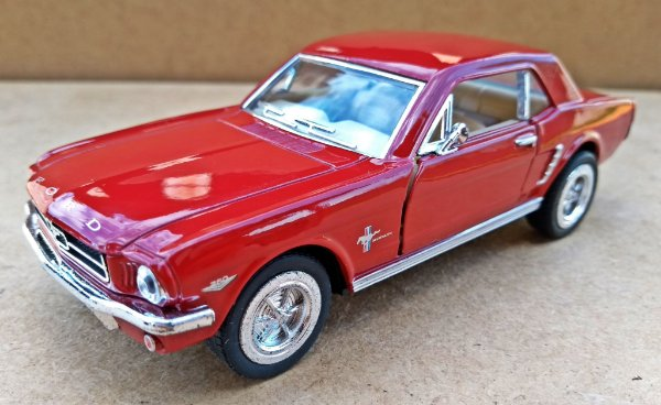 Ford Mustang 1964 Vinho- Escala 1/36 - 12 CM