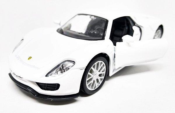 Porsche 918 Spyder Branco - Escala 1/36 13 CM