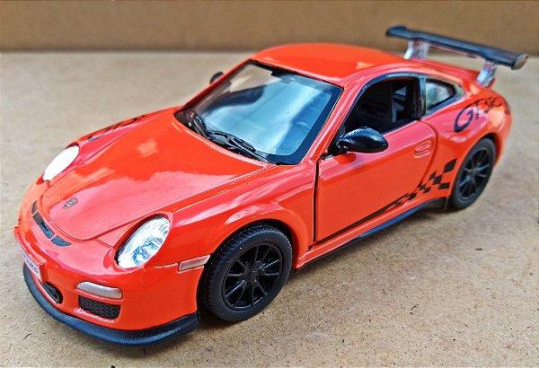 Porsche 911GT3 RS Laranja - Escala 1/38 13 CM