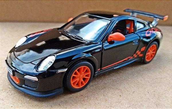 Porsche 911GT3 RS Preto - Escala 1/38 13 CM