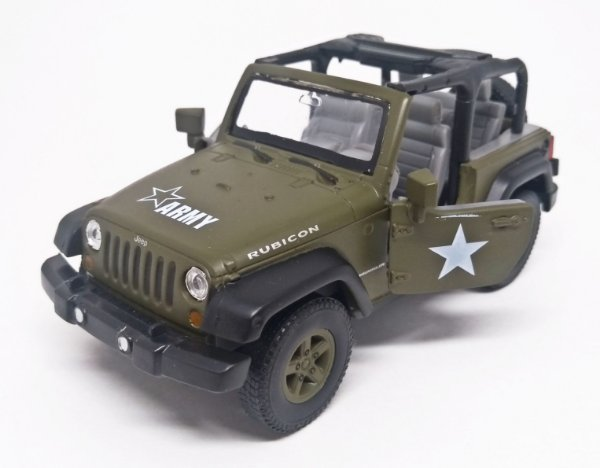 Jeep  Rubicon Army - Escala 1/38 - 12 CM