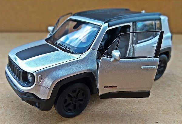 Jeep Renegade 2017 Prata - Escala 1/32 12 CM