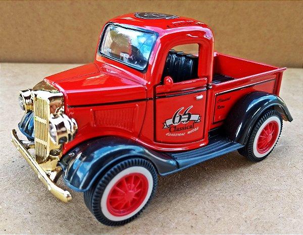 Calhambeque Pickup Vermelho - Escala 1/32 11 CM