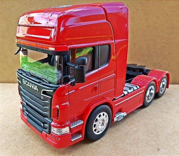Scania V8 R730 Trucado Vermelho - Escala 1/32 - 22 CM