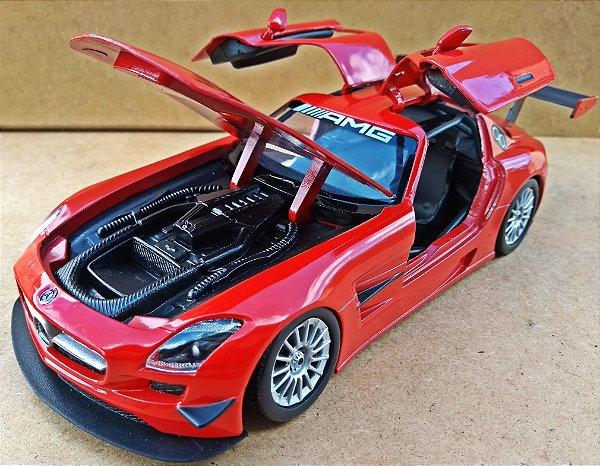 Mercedes Benz SLS AMG GT3 Vermelha - Escala 1/24 - 20 CM