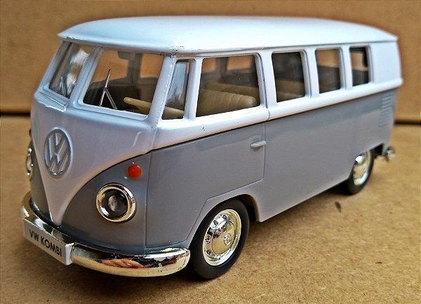 Volkswagen Kombi 1962 Cinza/Branca - Escala 1/32 - 13 CM