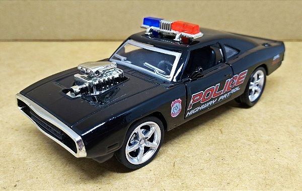 Dodge Charger 1970 Police - Escala 1/38 -12 CM