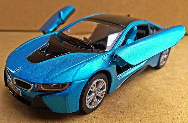 BMW I8 Azul - Escala 1/36 - 12 CM
