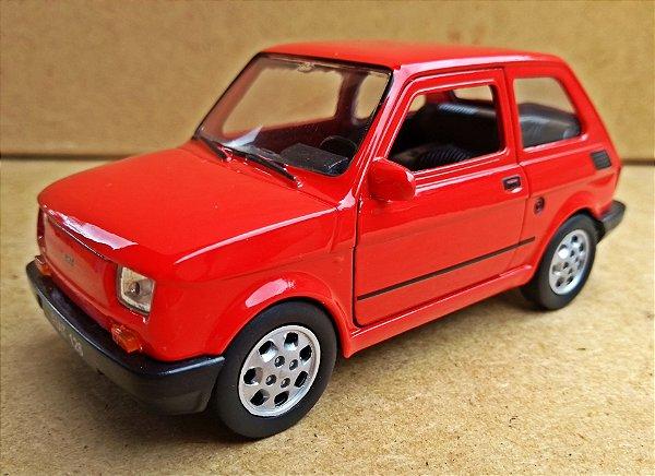 Fiat 126 Vermelho - ESCALA 1/34 - 11 CM