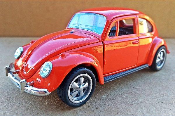Volkswagen Fusca Laranja - Escala 1/32 - 13 CM