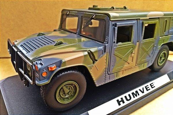 HUMMER HUMVEE MILITAR - ESCALA 1/24 - 22 CM