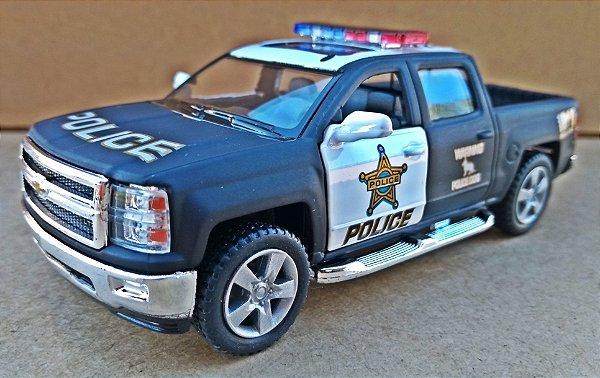 Chevrolet Silverado Police - Escala 1/46 13 CM