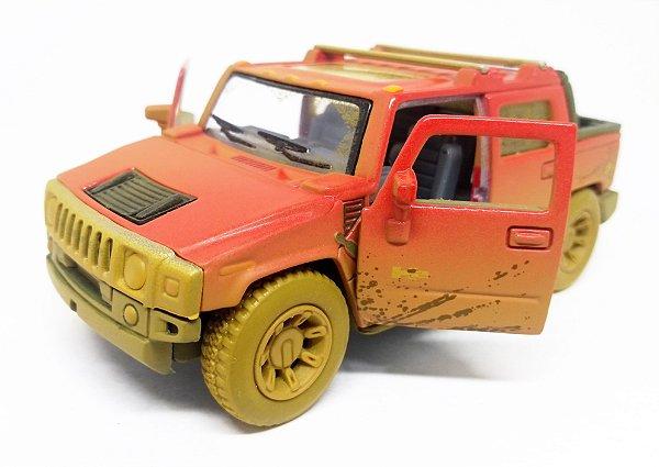 Hummer H2 SUT 2005  Vermelho- ESCALA 1/40 - 12 CM