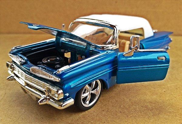 Chevrolet Impala Custom 1959 Azul - Escala 1/32 - 15 CM