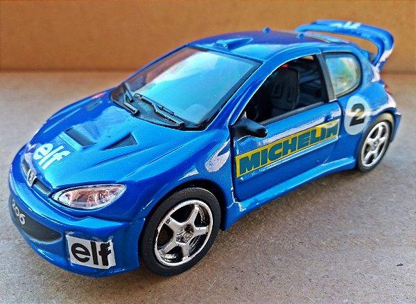 Peugeot 206 WRC - Escala 1/32 - 13 CM