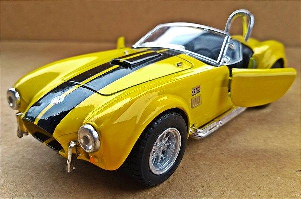 Shelby Cobra 427 1965  Amarelo - ESCALA 1/32 - 13 CM