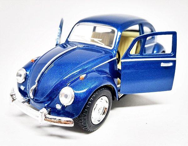 Volkswagen Fusca Azul Escuro - Escala 1/32 - 13 CM