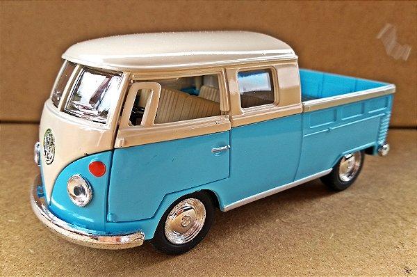 Volkswagen Kombi 1962 Azul/Branca - Escala 1/32 - 13 CM