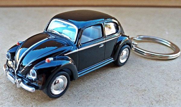 Volkswagen Fusca Preto - Chaveiro - Escala 1/64 - 06 CM
