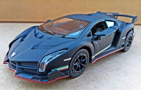 Lamborghini Veneno - Preto Fosco - ESCALA 1/36 - 13 CM