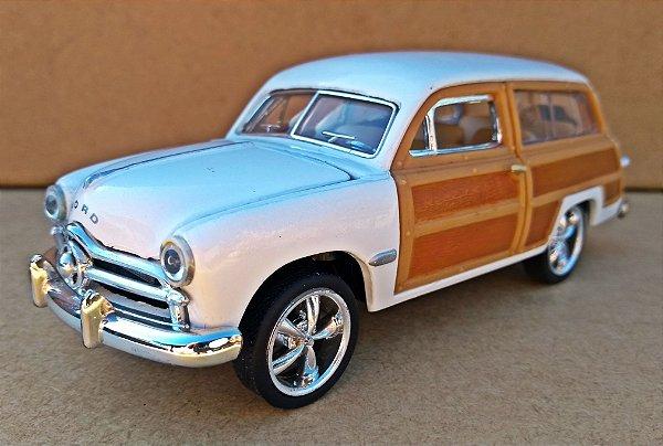 Ford Woody Wagon 1949 Branca Escala 1/38 14 CM