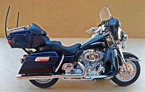 Harley Davidson Electra Glide 2013 Azul - ESCALA 1/18 - 12 CM