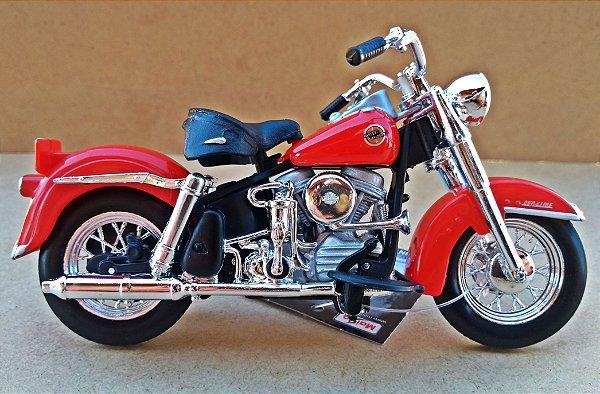 Harley Davidson FLH Duo Glide 1958 - ESCALA 1/18 - 12 CM