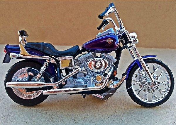 Harley Davidson Dyna Wide Glide - ESCALA 1/18 - 12 CM