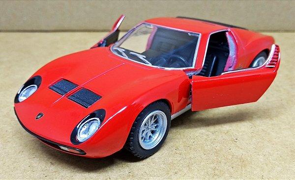 Lamborghini Miura P400 SV 1971 Vermelho - Escala 1/32 13 CM