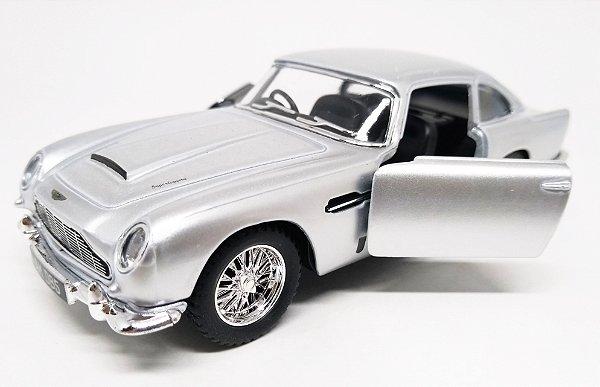 Aston Martin DB5 1963 Prata - Escala 1/38 13 CM