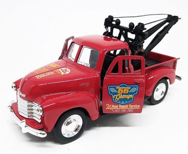 Chevrolet 3100 Guincho 1953 Vermelho - Escala 1/38 12 CM