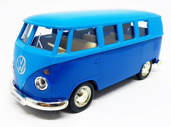 Volkswagen Kombi 1962 Azul/Azul Escuro - Escala 1/32 - 13 CM