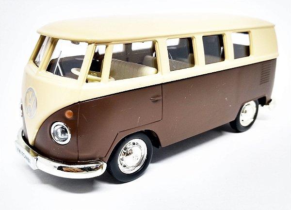 Volkswagen Kombi 1962 Bege/Marrom - Escala 1/32 - 13 CM