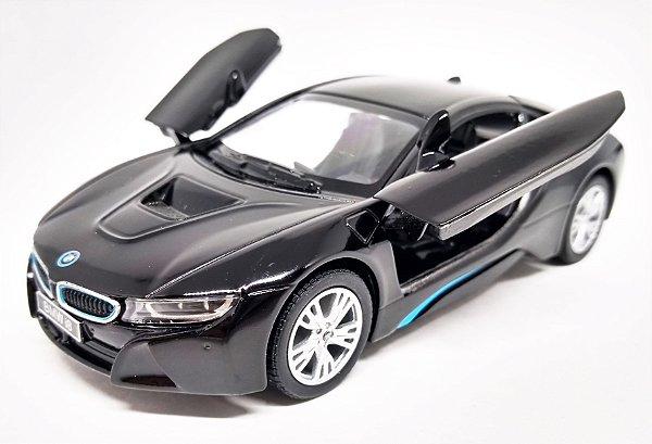 BMW I8 Preta - Escala 1/36 - 12 CM