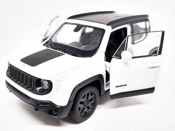 Jeep Renegade 2017 Branco - Escala 1/32 12 CM