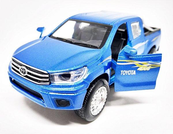 Toyota Hilux 4x4 Azul - Escala 1/38 13 CM