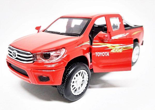 Toyota Hilux 4x4 Vermelha - Escala 1/38 13 CM