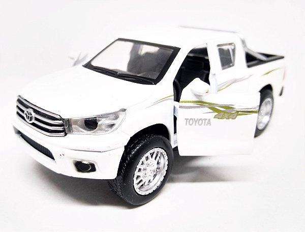 Toyota Hilux 4x4 Branca - Escala 1/38 13 CM