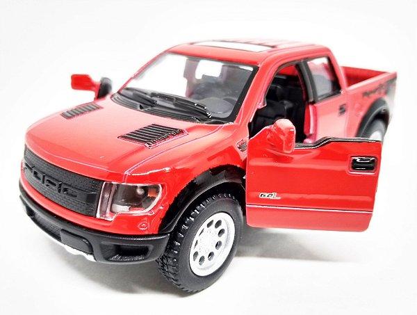 Ford F-150 SVT Raptor Vermelha - Escala 1/46 - 13 CM