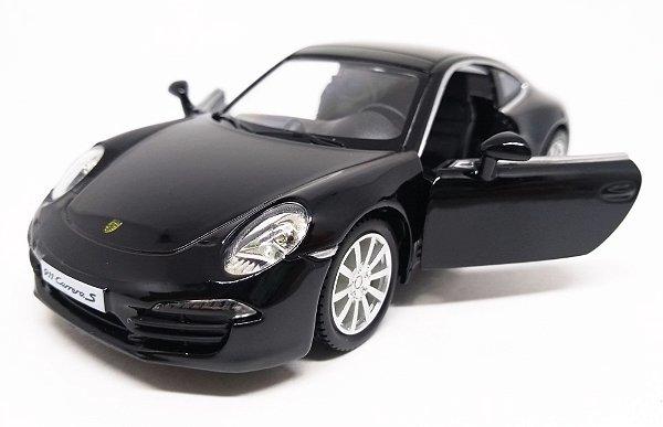 Porsche 911 Carrera S Preto - Escala 1/32 13 CM