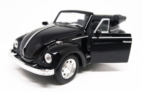 Volkswagen Fusca Preto Conversível - Escala 1/32 - 13 CM