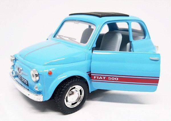 Fiat 500 Azul Claro - Escala 1/24 - 12 CM