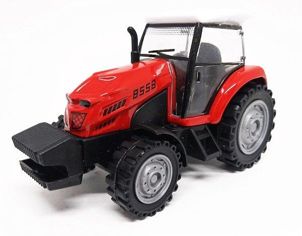 Trator Vermelho - Escala 1/43 - 11 CM