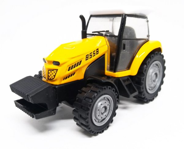 Trator Amarelo - Escala 1/43 - 11 CM